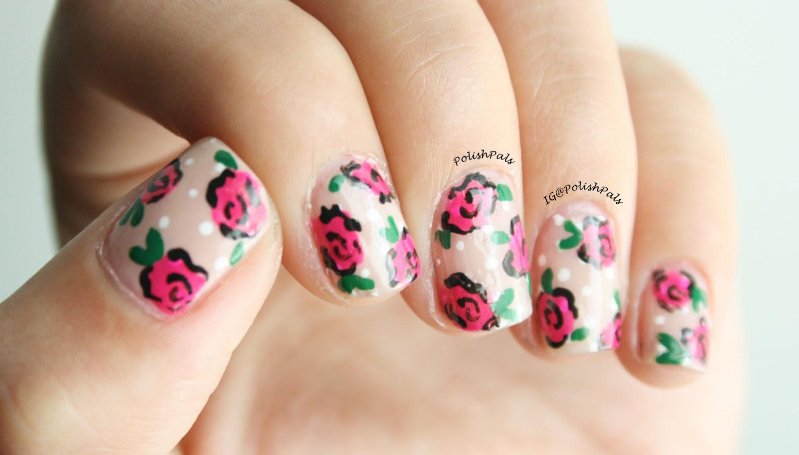 Polish Pals: Dainty Rose Nails (+ Tutorial)
