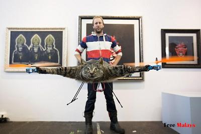 Lelaki Ubahsuai Bangkai Kucing Menjadi Helikopter