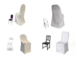 WHITE CHAIR COVERS: $2.50