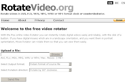 RotateVideo.org – Rotate your Videos clock or counterclockwise
