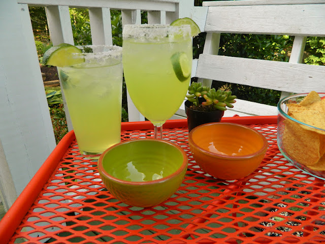 margaritas on the deck