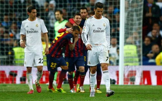 Hasil Pertandingan Real Madrid vs Barcelona 24 Maret 2014 - Duel El-Classico