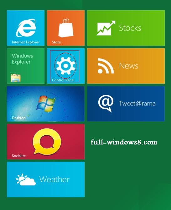 how to change password at windows 8