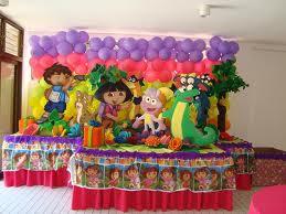 DECORACIONES CON GLOBOS CON DORA LA EXPLORADORA decoracionesparafiestasinfantiles.blogspot.com
