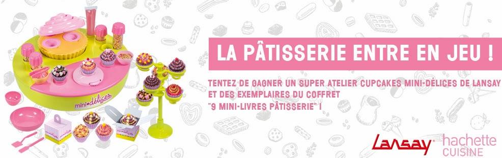 10 coffrets Atelier cupcakes de Lansay + 8 coffrets 9 mini-livres Pâtisserie
