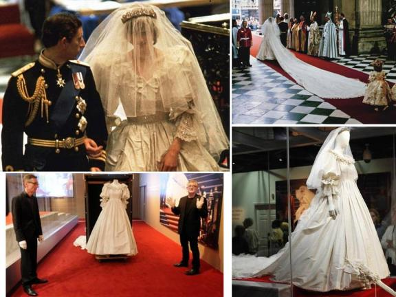 princess diana wedding dress train. images princess diana wedding