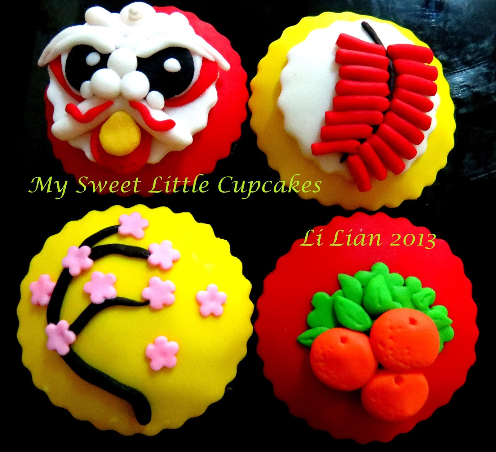 chinese new year theme cupcakes