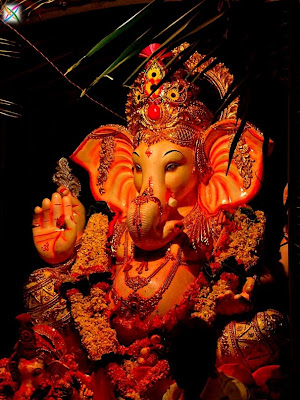 Ganesh Chaturthi Ganapati Aarti lord Ganesha Wallpaper Mantra Festival Wishes Vinayaka 2012