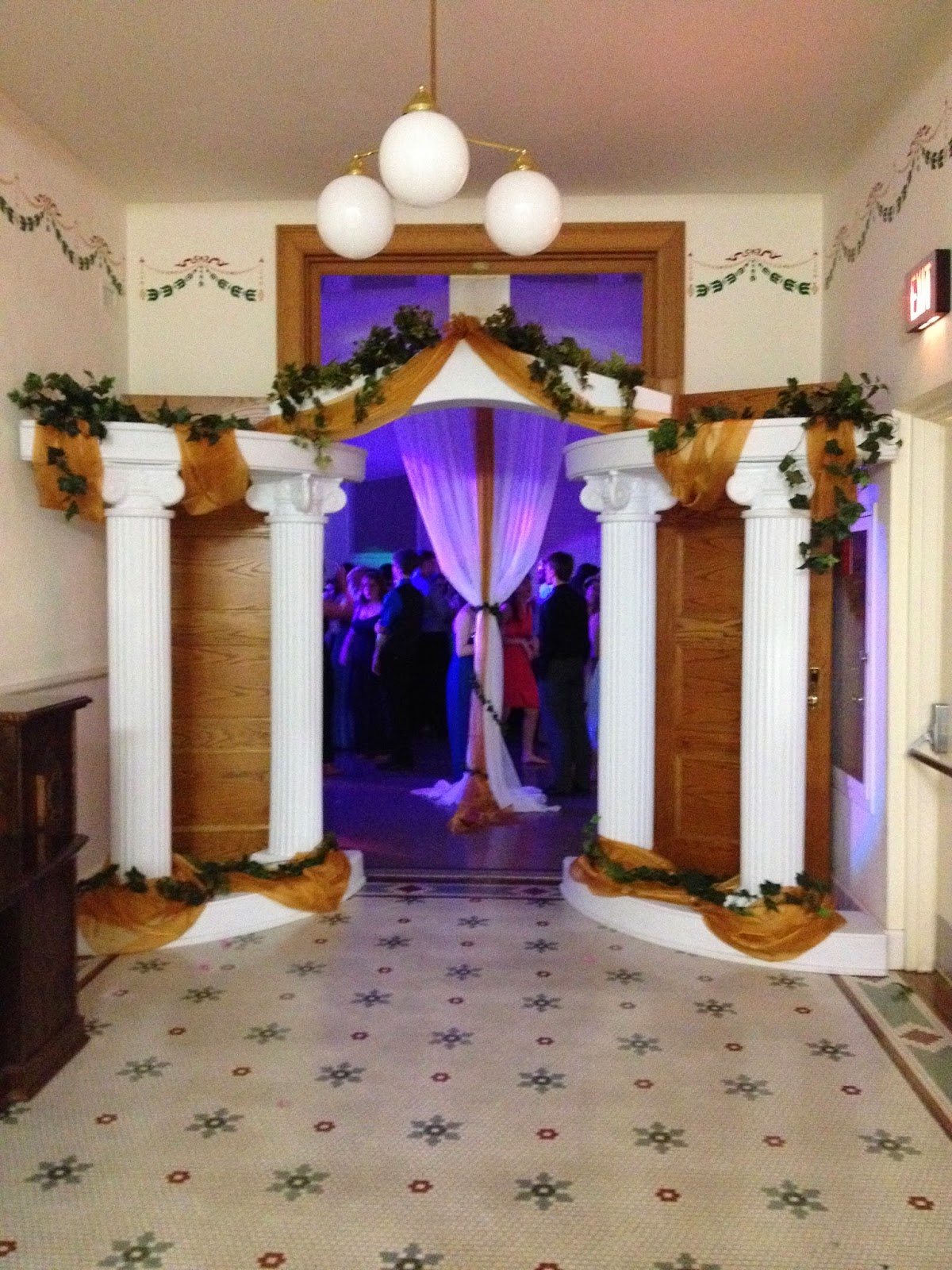 Party people event decorating company greek theme prom for Ancient greek decoration ideas
