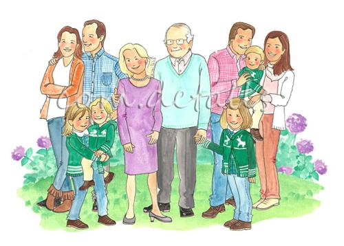 Eva Torguet Comdetalls Un dibujo de toda la familia