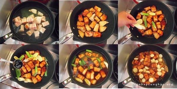 Cách làm món thịt heo kho củ năng ngon tuyệt 1