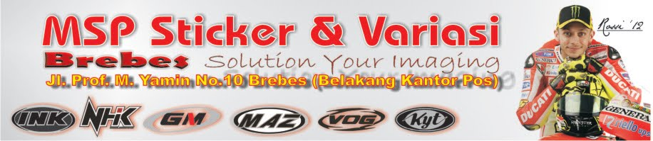 MSP Sticker dan Variasi BREBES