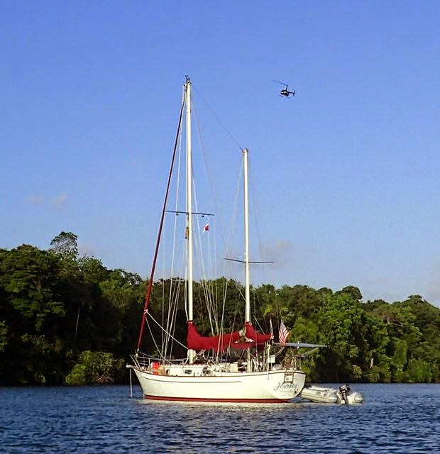 anchorage on rio chagres panama