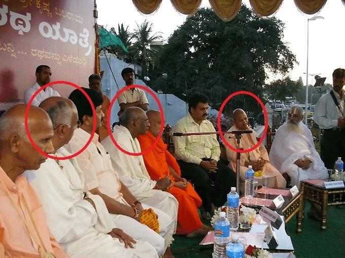 Shanka Britha Dasa, Amiya Vilas Swami & Madhu Pandit Dasa at ISKCON Bangalore Ratha Yatra