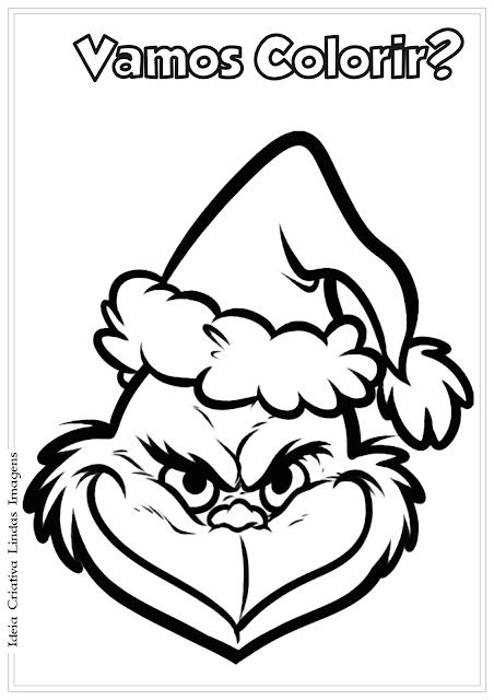 O Grinch desenho de Natal para colorir