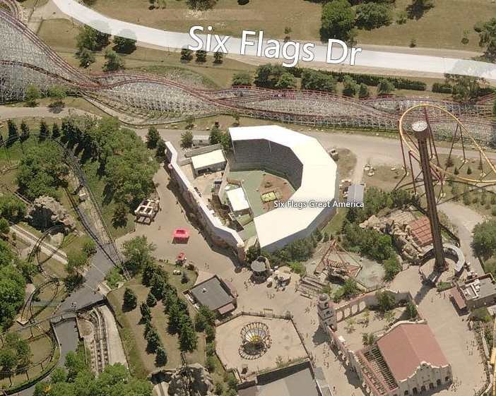 Newsplusnotes six flags great america shows off early for Great american builders