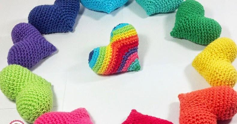 Paso a paso: Corazones crochet para celebrar el amor