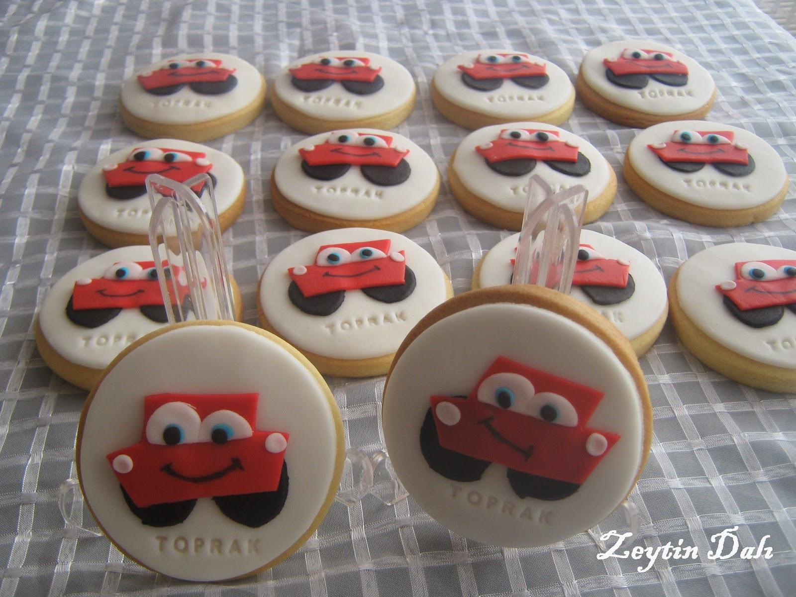butik kurabiye,kurabiye,araba kurabiye,şimşek mc queen ,şimek kurabiye