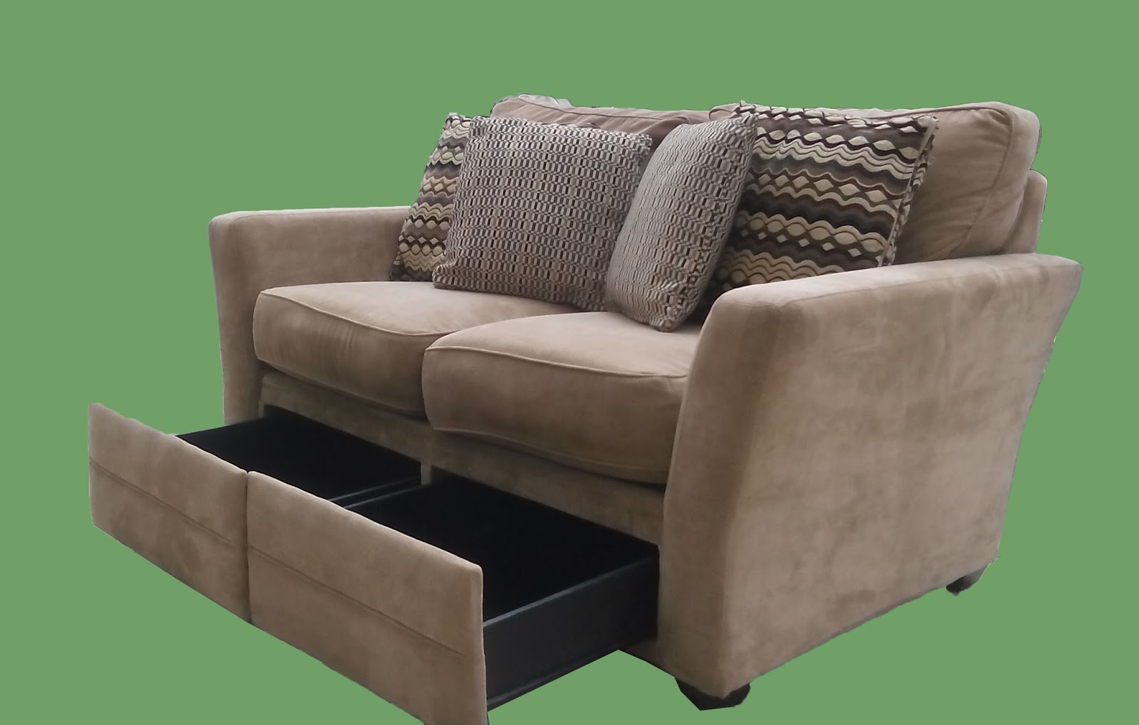 Lovely Loveseat With Storage Drawers $145   SOLD