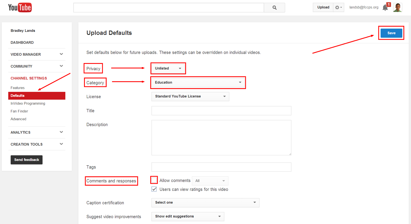how to change youtube vidoe to private
