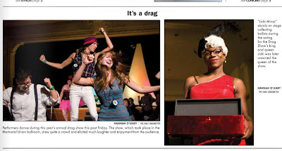 Drag performers filled the OSU MU ballroom