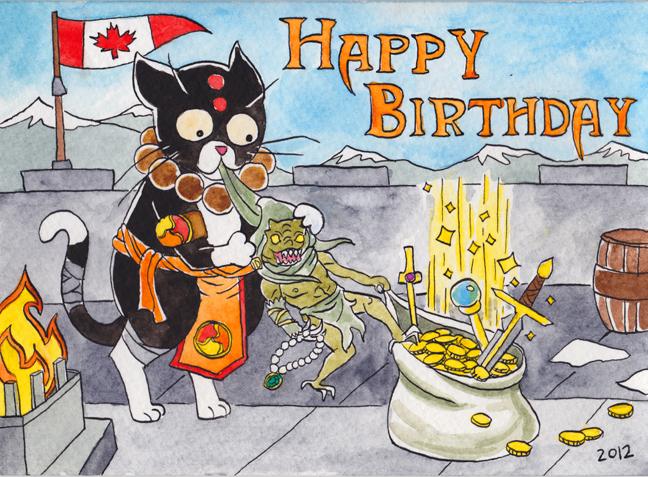 Julia Minamata Illustration The Blog Diablo 3 Birthday Card