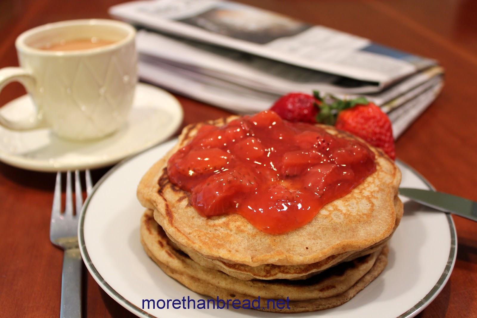Whole Wheat Pancakes with Strawberry Sauce 全麥班戟配鮮士多啤 ...