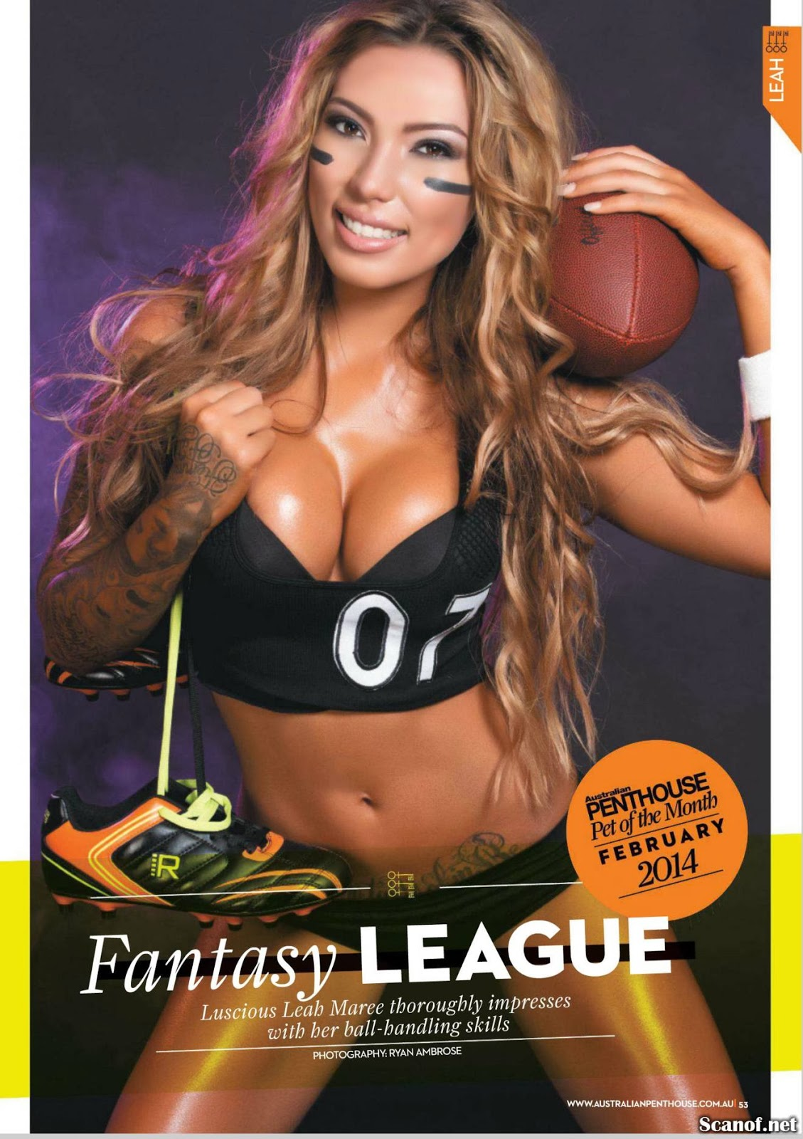 Magazine Cover : Leab Maree Magazine Photoshoot Pics on Penthouse Magazine Australia February 2014 Issue