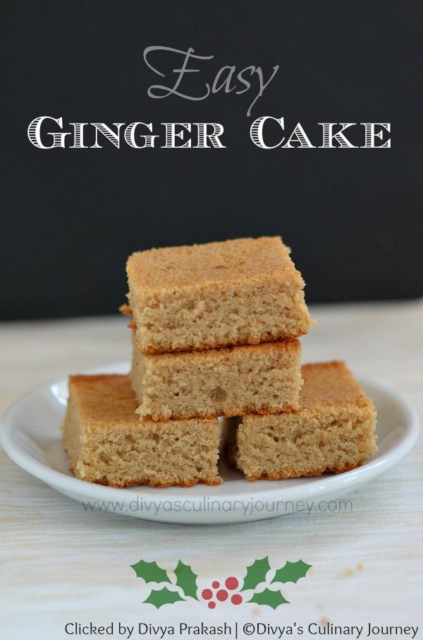easy ginger cake, ginger snack cake