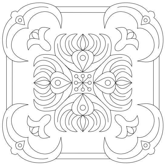 Imaginesque Free-hand Embroidery Decorative Motif Pattern