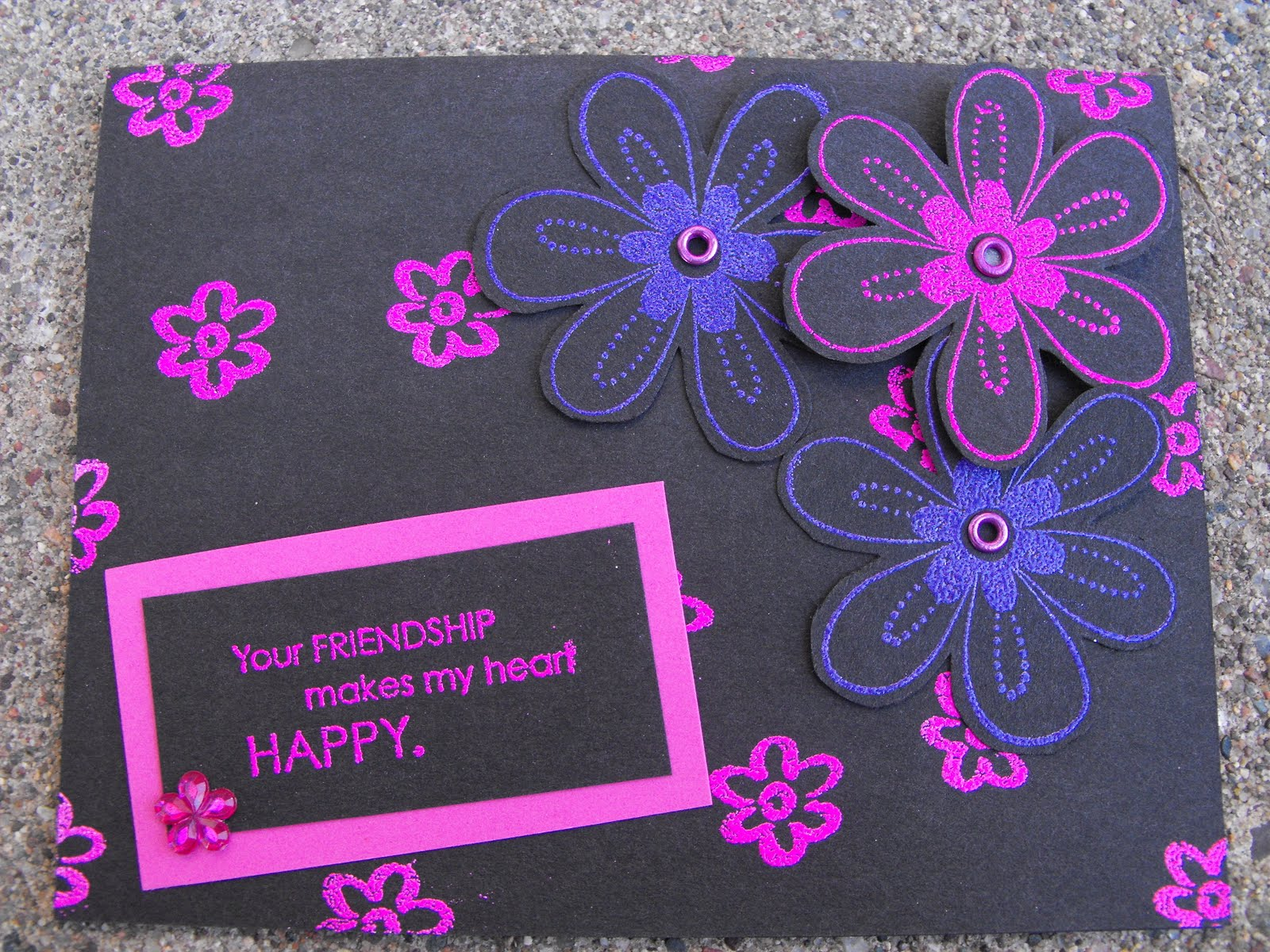 Card Making Ideas For Husband Part - 26: Flower Card. Now That The Holiday Weekend Is Over It Back To The Real  World. Had A Busy, Busy Day. Two Cleanings, Husband At The Hospital, Doctor  Appt For ...