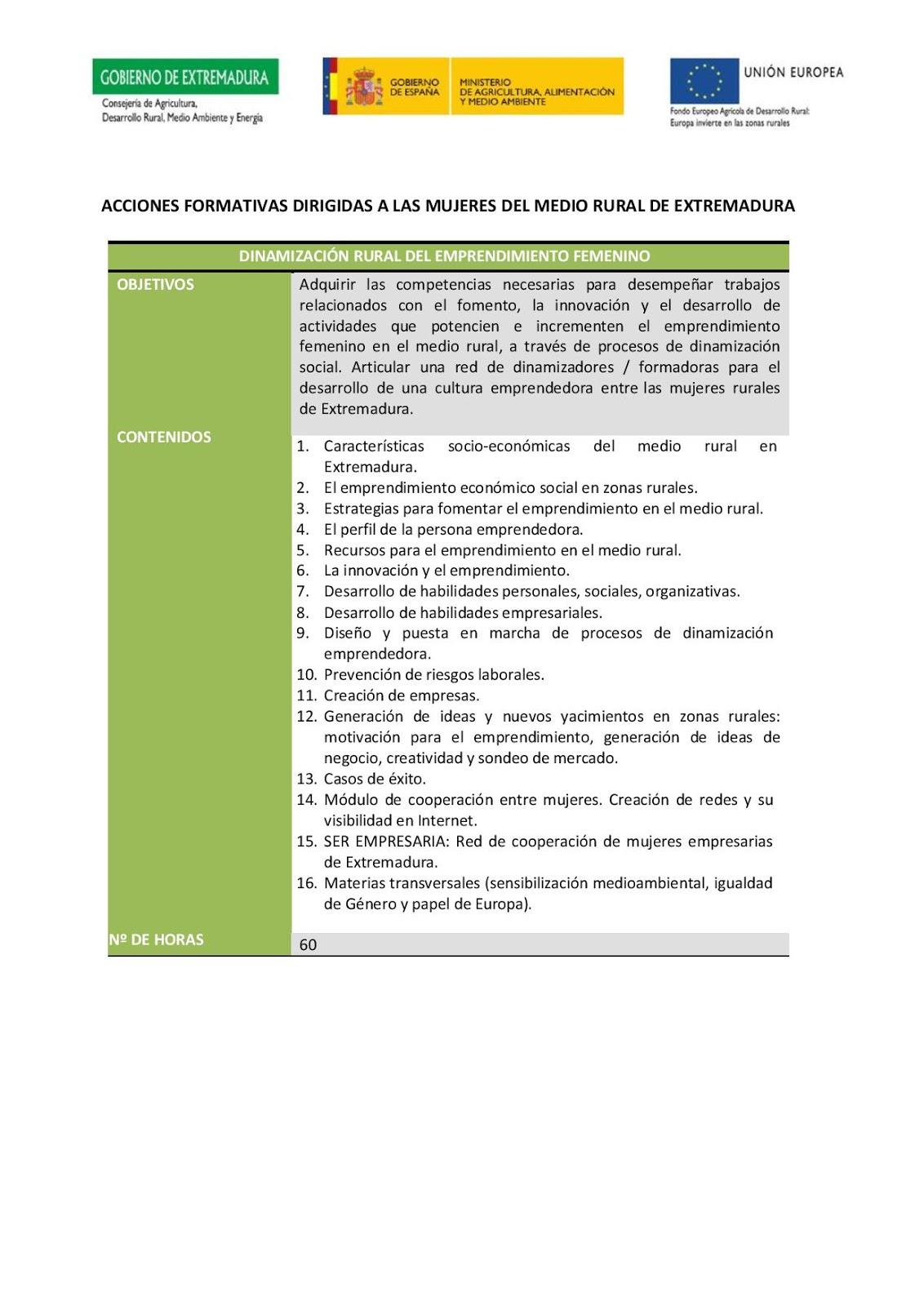 Igualdad valle del jerte oferta formativa para mujeres for Oficina virtual medio rural