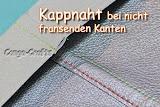 Anleitung Kappnaht Kunstleder