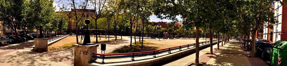 perspectiva del parque Garrido, Salamanca