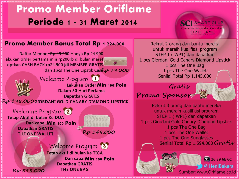 Daftar Member Oriflame Manado Maret 2014