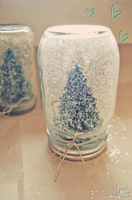 STREET SCENE VINTAGE: Vintage DIY: Homemade Snowglobes