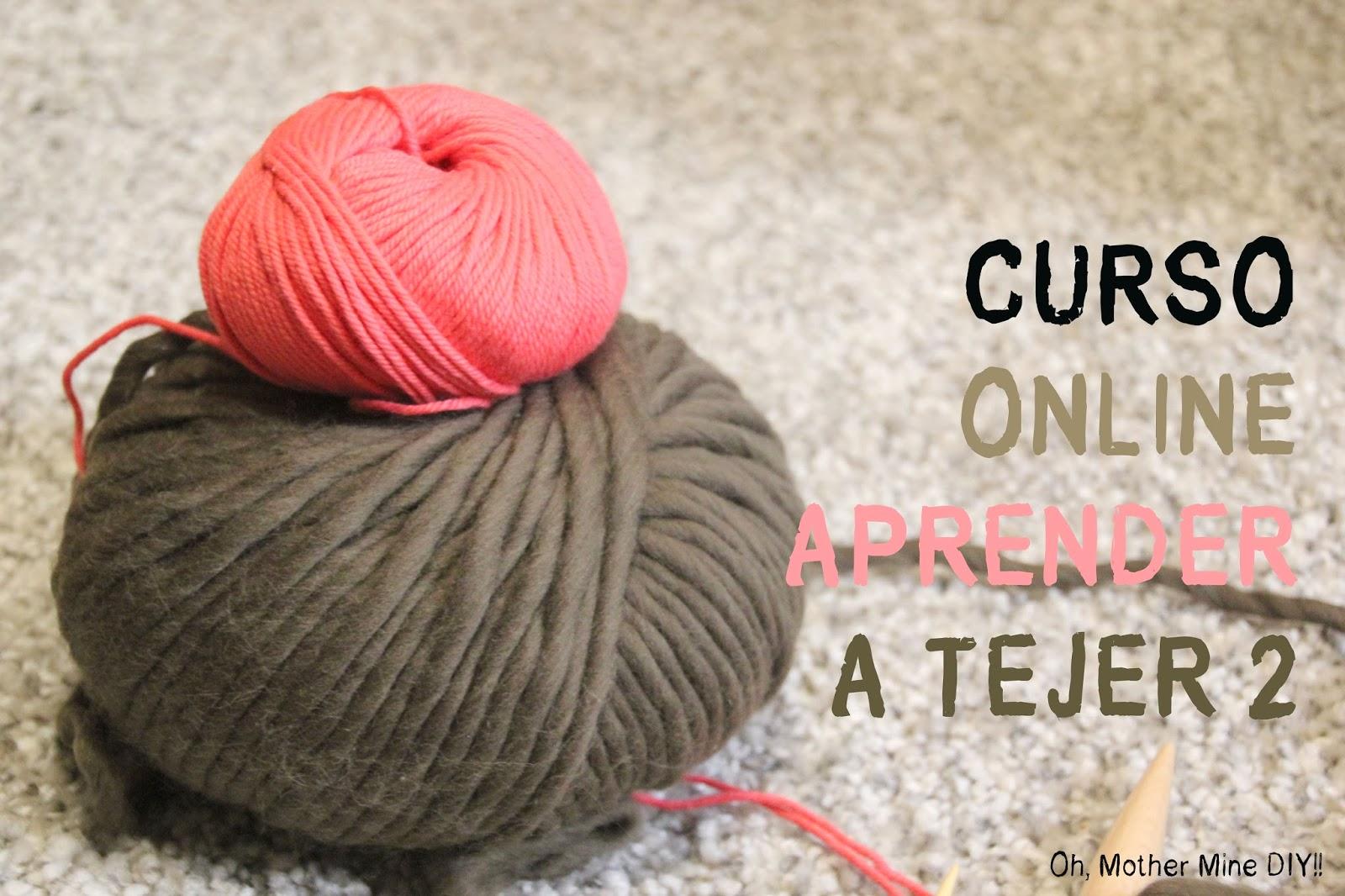 Curso online gratis aprender a tejer con dos agujas cap 2 - Puntos faciles para tejer con dos agujas ...