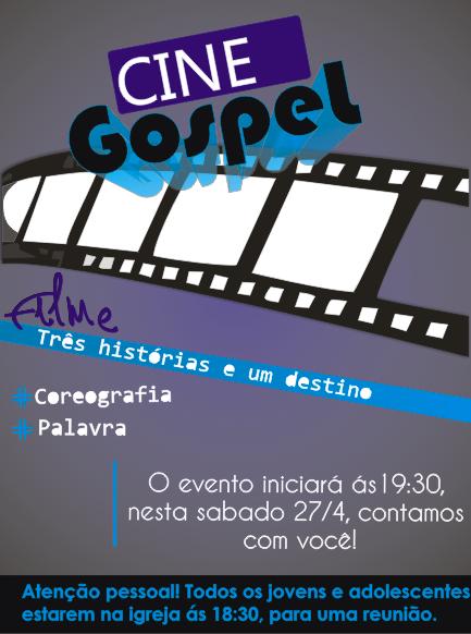 Convite Cine Gospel Portfolio Cr