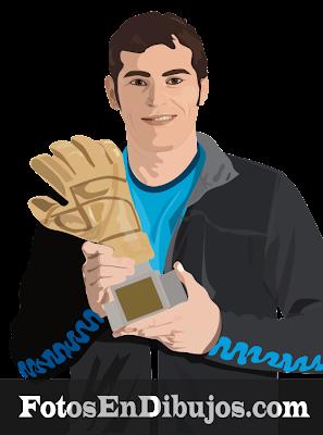 Dibujo de Iker Casillas
