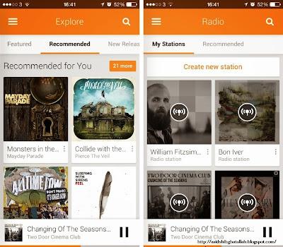 Google Play Music untuk iOS sekarang tersedia