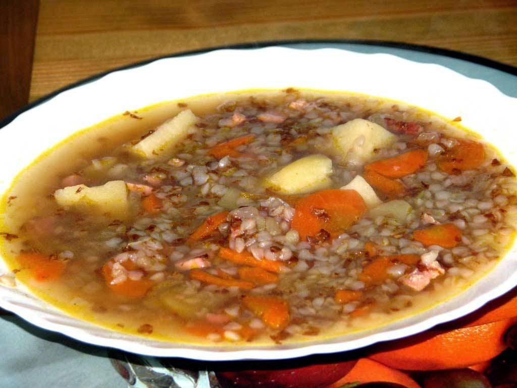 Вкусный суп с гречкой
