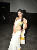 Actress Nivitha Glamorous photos in Saree-cover-photo