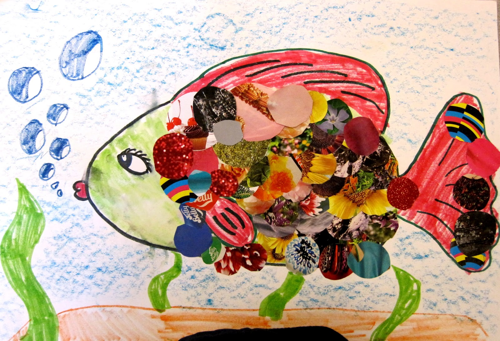 Fish Collage | Art Class Ideas
