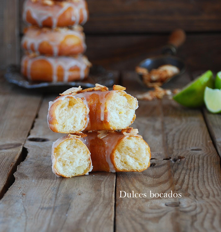 Donuts de lima y coco - Dulces bocados