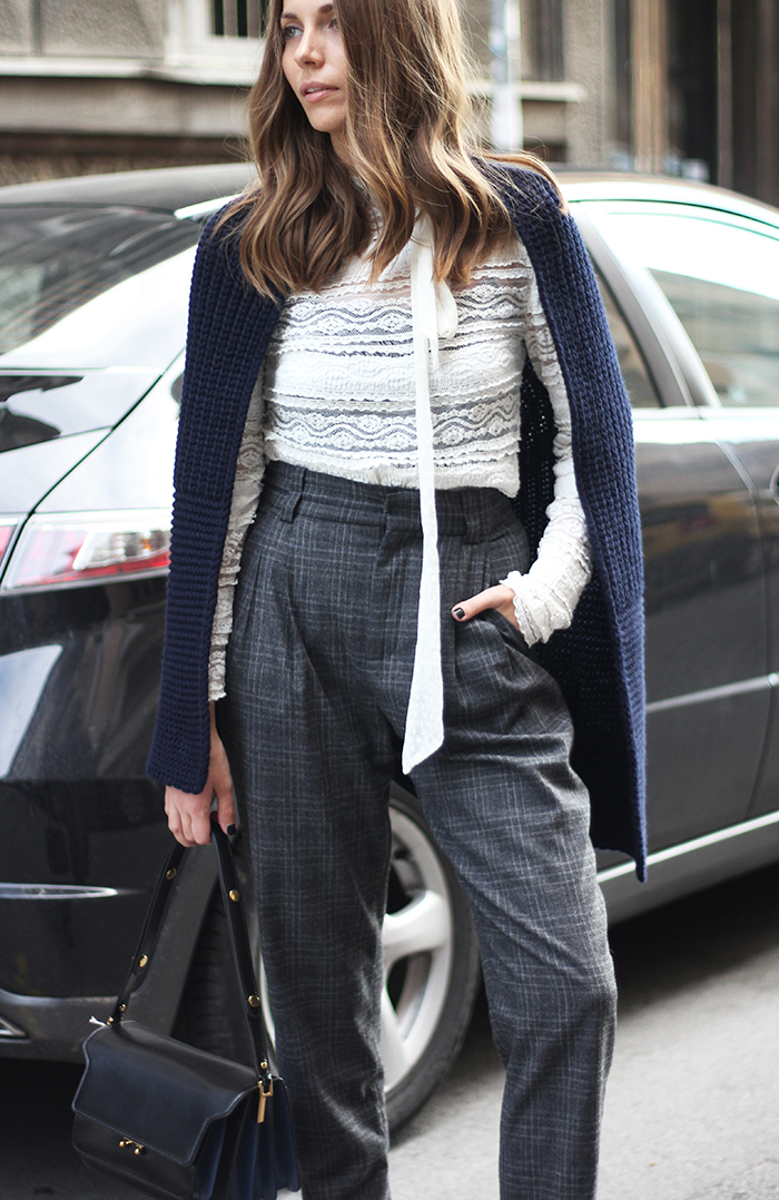Fashion And Style Check Trousers
