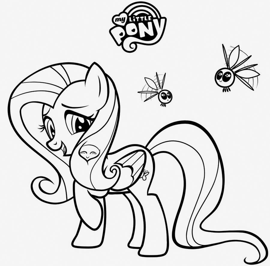 My little pony fluttershy coloring pages for My little pony characters coloring pages