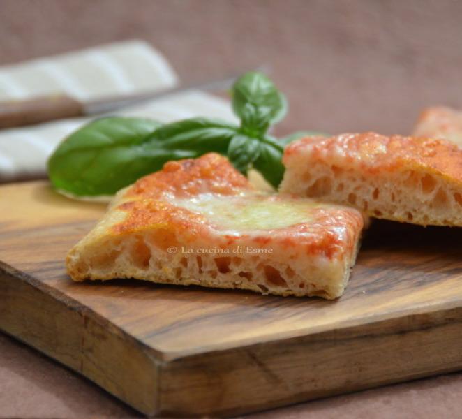 pizza con farina di farro a 48h di lievitazione