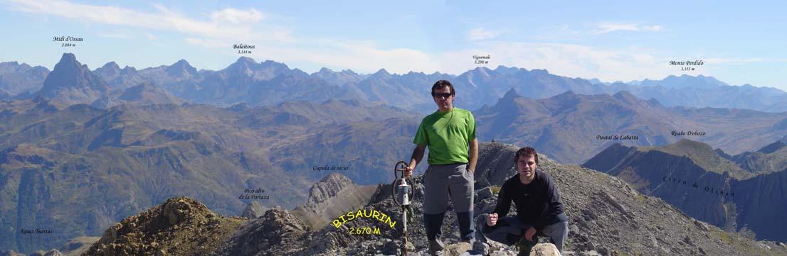 Vistas desde la cima del Bisaurín