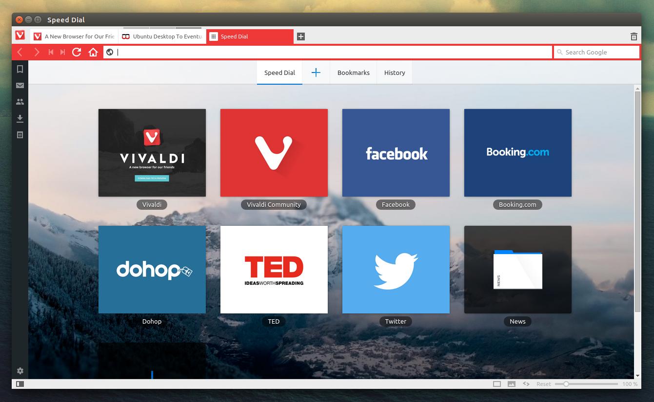 Vivaldi Browser Linux