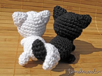 Amigurumi Gato Negro : Gato negro gato blanco